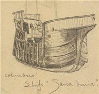 columbus' ship, santa maria by lyonel feininger
