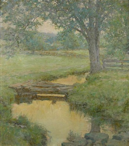 golden stream in the forest by robert reid