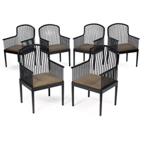 andover armchairs (6 works) by davis allen