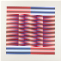 4 bll. (from induction chromatique) (4 works) by carlos cruz-diez