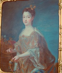 portrait of princess marie of france by louis tocqué