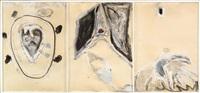 ohne titel (triptych) by mimmo paladino