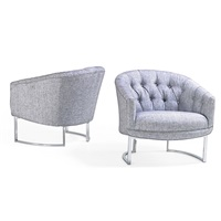 tufted lounge chairs (pair) by milo baughman