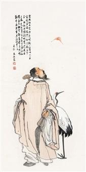 鹤福如意图 by lin xiang