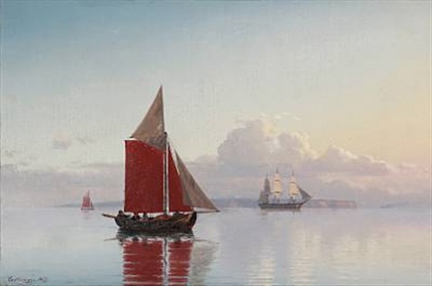stille morgen i sundet by carl emil baagöe
