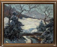 bavarian winter landscape by carl friedrich felber