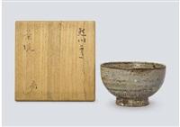 komogai style tea bowl by rosanjin kitaoji