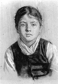 porträt eines hessischen bauernmädchens by richard hoelscher