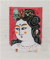 portrait of a lady by shiko munakata