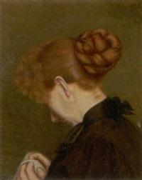 ung rygvendt kvinde med opsat hår by bertha dorph