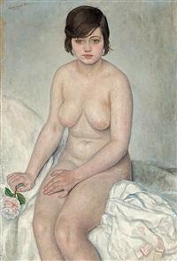 desnudo femenino sentado by mariano andreu