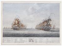 de vloot in linie van bataille by engel hoogerheyden