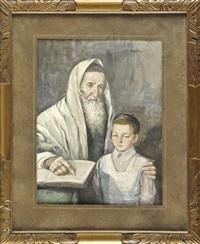 rabbi mit seinem schüler by leopold pilichowski