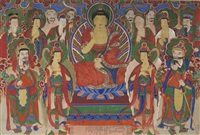 buddha amitabha and attendant deities by anonymous-korean (19)
