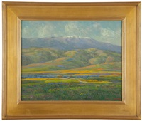 spring in california with snowcapped mountains by william dorsey