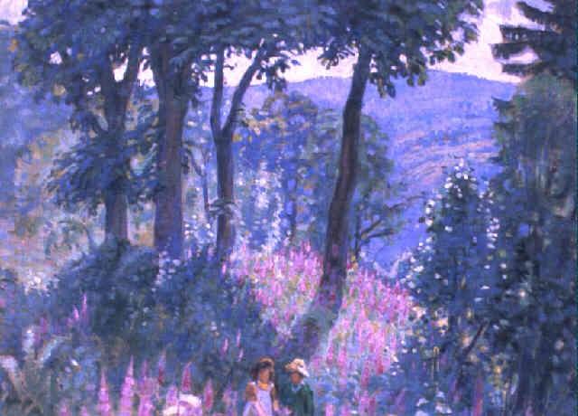 lichte waldlandschaft in blüte by maurice mathey