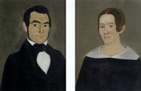 new england portraits: clark and sarah (gardener) swallow (pair) by william w. kennedy