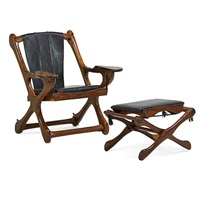 chair and folding stool (2 works) by don shoemaker