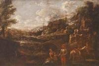 vedute di paesaggi (pair) by antonio francesco peruzzini