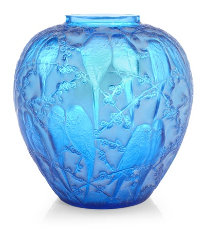 vase perruches by rené lalique