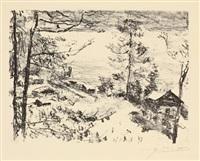 see-ufer (from vorfrühling im gebirge) by lovis corinth