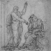 nathan verkündet dem reuigen david gottes ratschluß (2. samuel 12,1-14) by alfred rethel