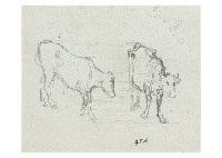 cow dessin by jean françois millet