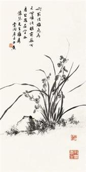 墨兰图 by bai jiao