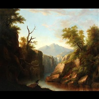 catskill waterfall by hudson river school