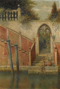 steps to the canal by burr h. nicholls