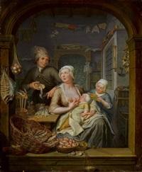 holländischer fischladen by hieronymus van der mij