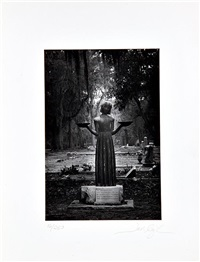 midnight (bonaventure cemetery statue of the bird girl) by jack leigh