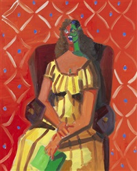 multicolored woman by george condo
