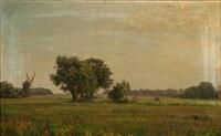 landscape with a mill by emilie (caroline e.) mundt