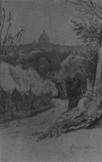 blick auf rom by ferdinand-theodor hildebrandt