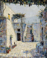 bavarian courtyard steps by rudolf andree