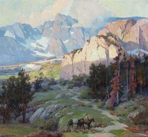 crest of the sierras minarette sic range california by jack wilkinson smith