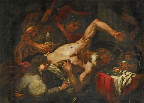 the death of cato by giovanni battista langetti