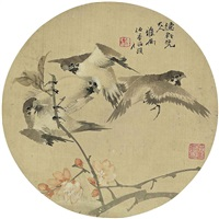 birds and flowers by ren yi