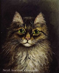 green-eyed cat by percy a. sanborn