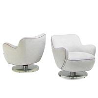 calabash tilt swivel chairs, no. 4700st (pair) by vladimir kagan