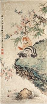 双猫图 by wang xuetao