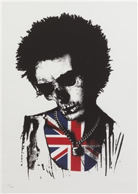 sid vicious dead rebel (silver) by paul insect