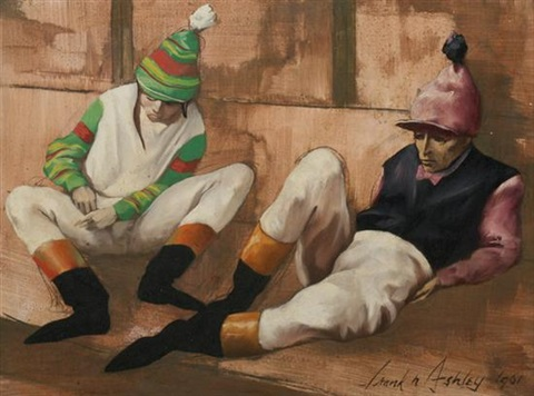 jockeys waiting by frank nelson ashley