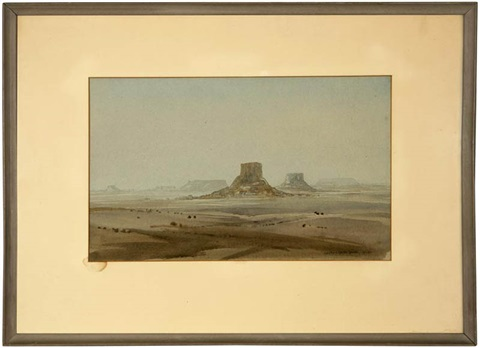 buttes in a desert landscape by george elbert burr