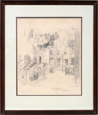 push cart alley, new york by frederick leo hunter