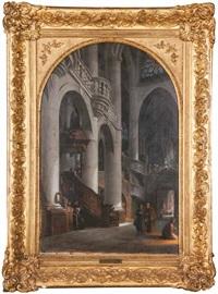 interno di chiesa by giovanni migliara