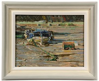 foreshore, pin mill, suffolk by margaret glass