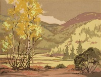 southwest mountain landscape by louie ewing