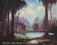 cabin among the cypress by nestor fruge